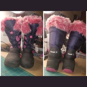 Kamik little girls winter snow boots